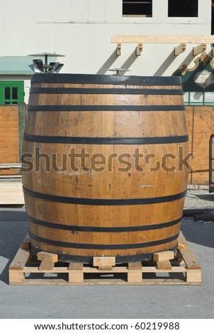 Traditional Beer Keg at the Oktoberfest in Munich - stock photo