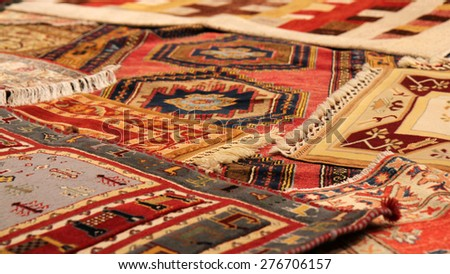 Traditional carpets from Middle East. - stock photo