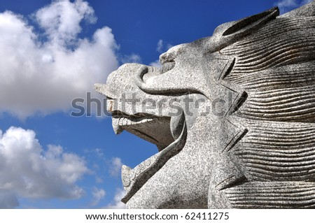 Traditional Chinese Dragon - stock photo