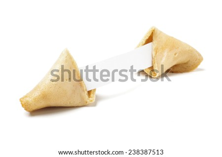 Traditional chinese fortune cookie with wisdom inside - stock photo