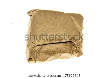 traditional chinese medicinal materials in the paper parcel--a classical one - stock photo