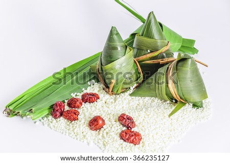 traditional Chinese rice-pudding - stock photo