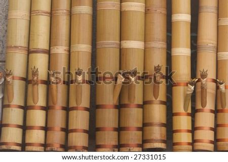 """Traditional Chinese water pipe,A smoking bag is also called """"tobacco Tube"""" which is a typical local smoking utensil used mostly in Yunnan - stock photo"""