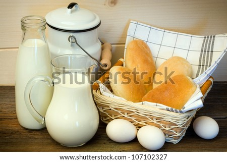 Traditional countryside breakfast - stock photo