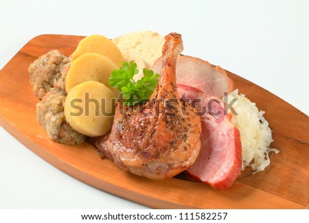 Traditional Czech cuisine  - stock photo