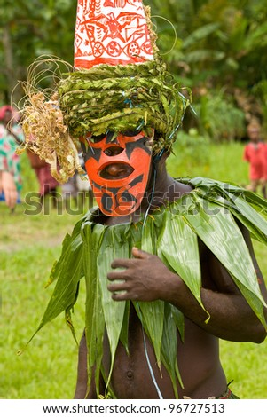 traditional dance  Papua New Guinea - stock photo