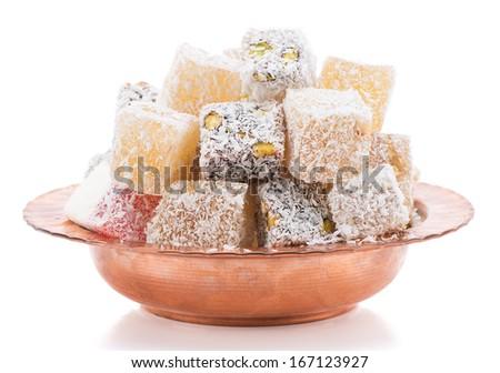 Traditional Dessert Turkish Delight    - stock photo