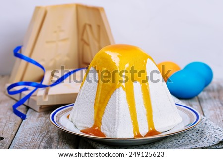 Traditional Easter cottage cheese dessert  - stock photo