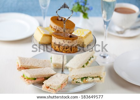 Traditional English afternoon tea - stock photo