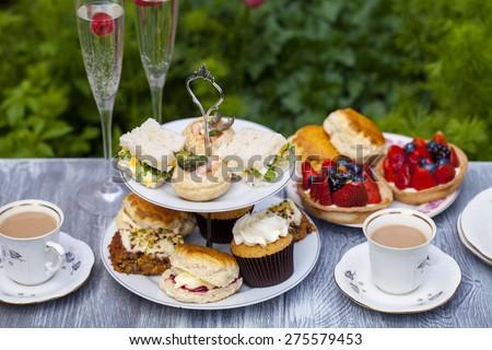Traditional English afternoon tea - stock photo