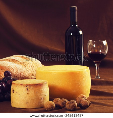 Traditional food and drink - stock photo