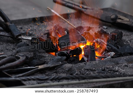 traditional forge - stock photo
