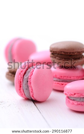 traditional french macarons  - stock photo