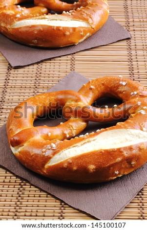 Traditional German pretzels - stock photo