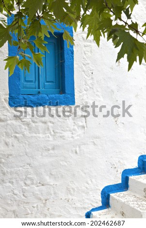 Traditional Greek house at Kos island in Greece - stock photo