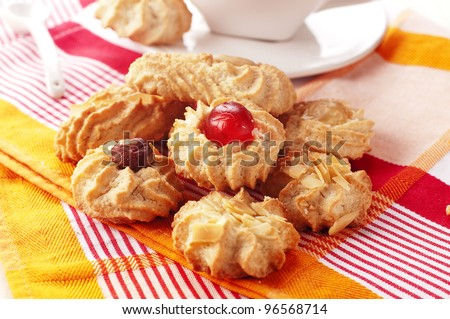Traditional homemade cookies of Sardinia - stock photo