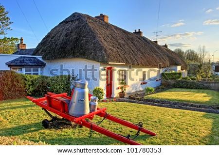 Traditional Irish cottage house. - stock photo