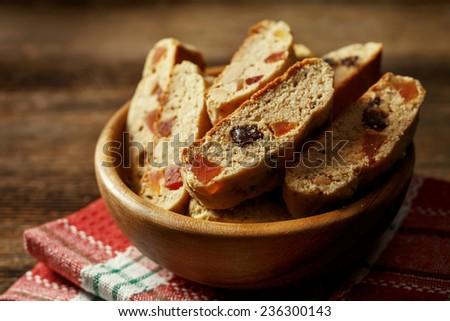 traditional Italian biscotti cookies - stock photo