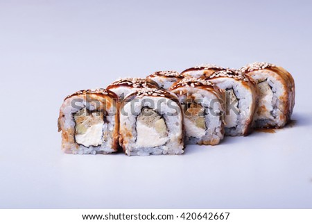 Traditional japanese cuisine, close up shot - stock photo