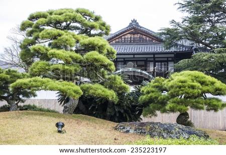 Traditional Japanese Garden - stock photo