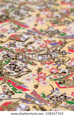 Traditional Japanese origami paper - stock photo