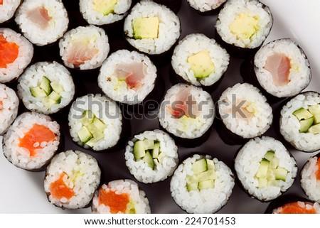 Traditional japanese sushi - stock photo