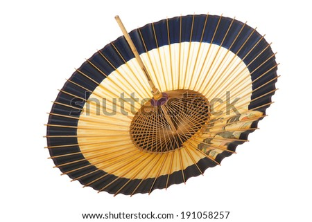 Traditional Japanese umbrella made �¢??�¢??of bamboo and paper. - stock photo