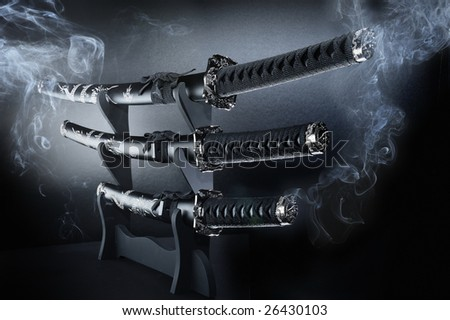 traditional Katana - stock photo
