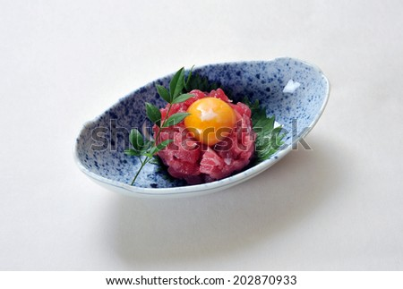 Traditional Korean Yukhoe - stock photo