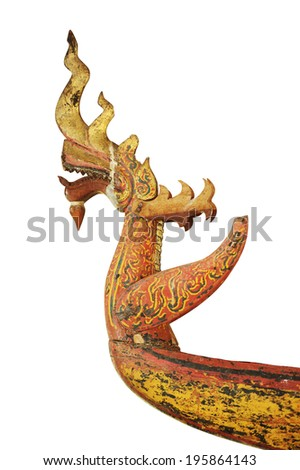 Traditional lao style of Wood carving - stock photo