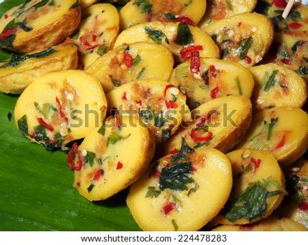 Traditional Malaysian dessert: kuih cara - stock photo