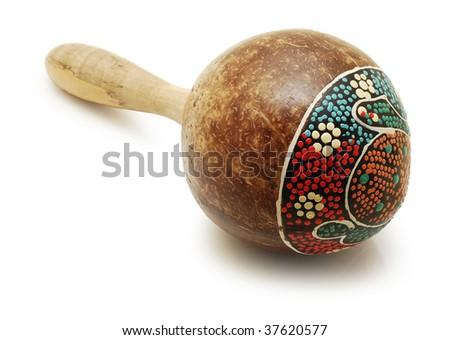 traditional maracas isolated - stock photo