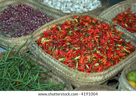 Traditional market in Bali, Indonesia - stock photo