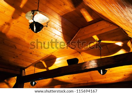 Traditional medieval lamp - stock photo