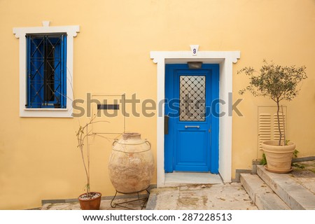 Traditional old house in Plaka,Athens, Greece - stock photo