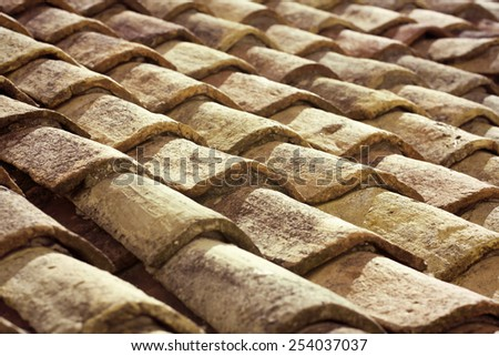 Traditional old roof in Dubrovnik, Croatia - stock photo