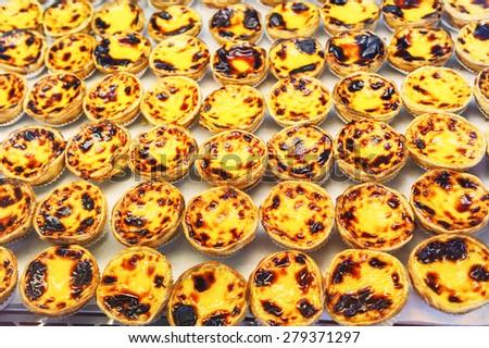 Traditional portuguese pastry - pastel de nata   - stock photo