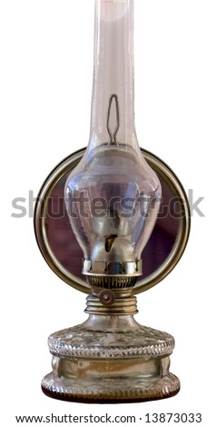 Traditional retro alike safety oil lamp - stock photo