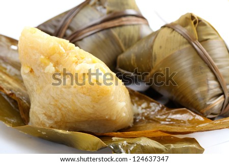 traditional rice dumpling - stock photo