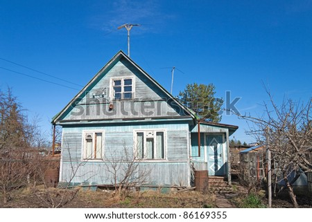 traditional russian dacha - stock photo