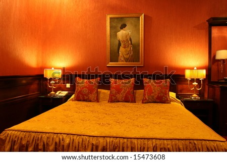 Traditional Russian Hotel Room - stock photo