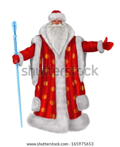 Traditional Russian Santa Claus - stock photo