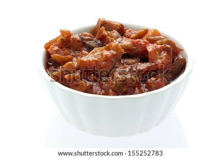 traditional sicilian cuisine - caponata - stock photo