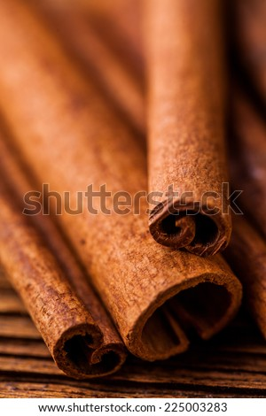 Traditional spices, oriental theme with seasoning - stock photo