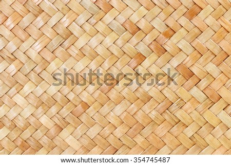 traditional thai style pattern nature background of brown handicraft weave texture bamboo surface for furniture materia - stock photo
