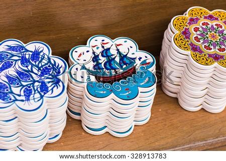Traditional Turkish ceramics  - stock photo