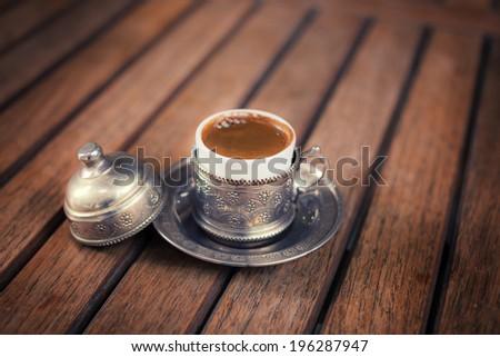 Traditional turkish coffee - stock photo