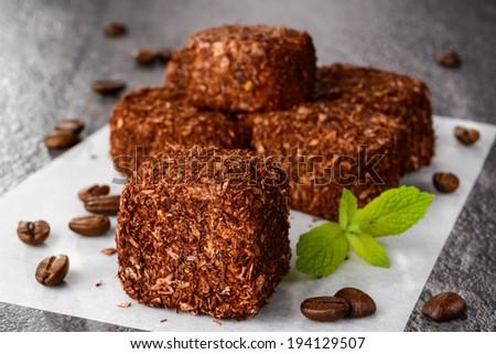 Traditional turkish delight dessert - stock photo