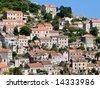 Traditional village on island Lastovo, Croatia - stock photo