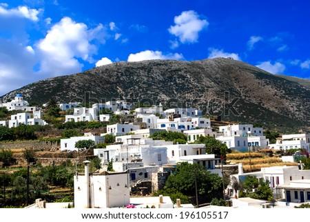 Traditional  village on Sifnos island, Greece - stock photo